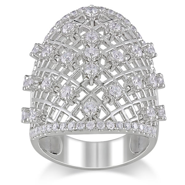 Miadora Signature Collection 14k White Gold 1 3/8ct TDW Diamond Ring