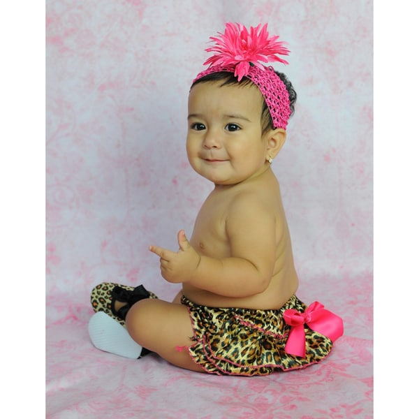 Baby Girl Leopard Bloomer 4-piece Gift Set