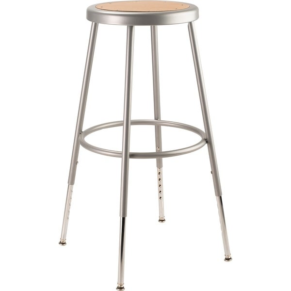 "NPS 25 -33"" Height Adjustable Heavy Duty Steel Stool, Grey"