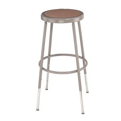 NPS Height Adjustable Stool with Round Hardboard Seat