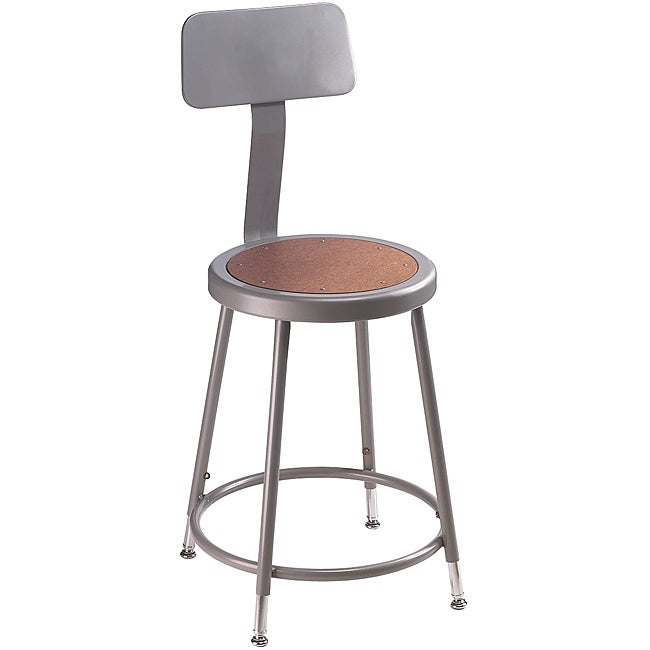 NPS 18-inch Adjustable Height Stool with Backrest