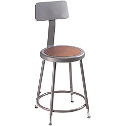 NPS 18-inch Adjustable Height Stool with Backrest  sc 1 st  Overstock.com & Commercial Stools - Shop The Best Deals for Nov 2017 - Overstock.com islam-shia.org