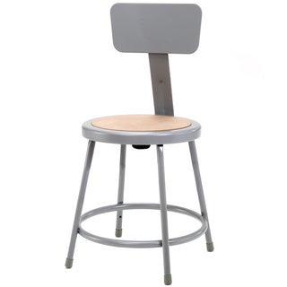 NPS Round Hardboard Seat Stool with Backrest