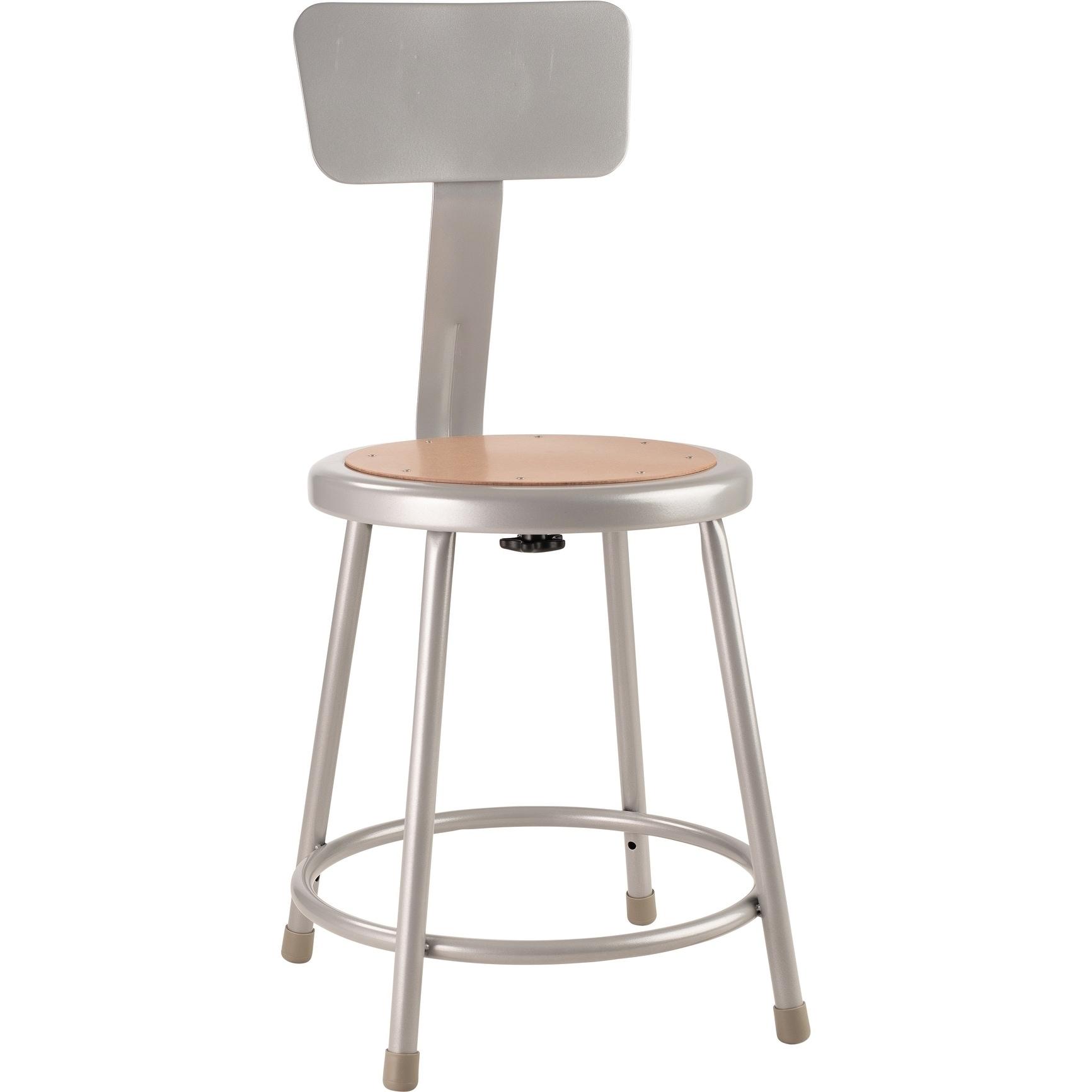 Amazing Nps 18 Heavy Duty Steel Stool With Backrest Grey Ibusinesslaw Wood Chair Design Ideas Ibusinesslaworg