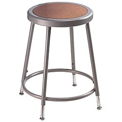 Durable NPS Heavy Steel Tube Height-adjustable Stool with Foot Ring