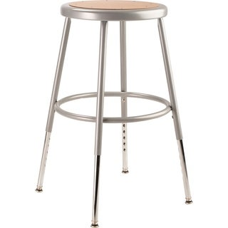 "NPS 19 -27"" Height Adjustable Heavy Duty Steel Stool, Grey"