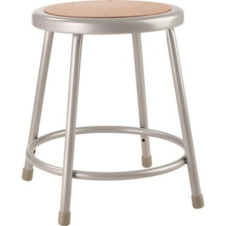 "NPS 18"" Heavy Duty Steel Stool, Grey"