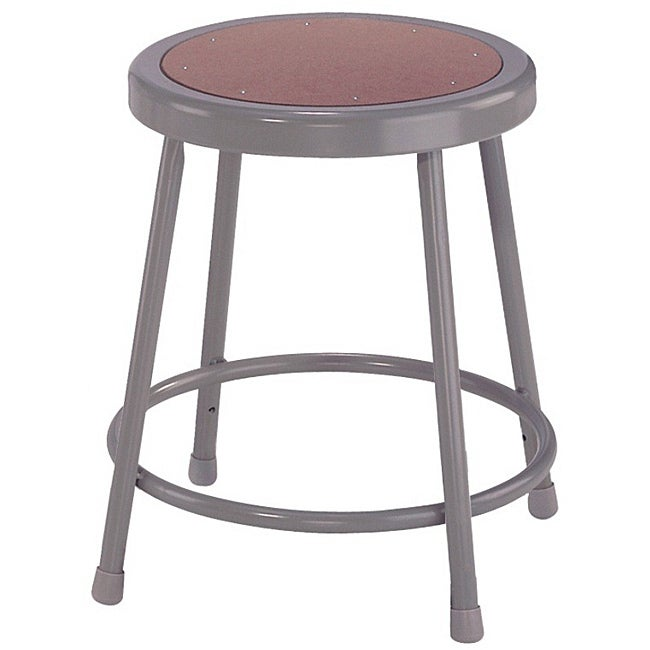 NPS 18-gauge Steel Tube Construction Round Hardboard Seat Stool