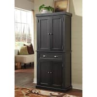 Gracewood Hollow Harjo Black Distressed Finish Pantry