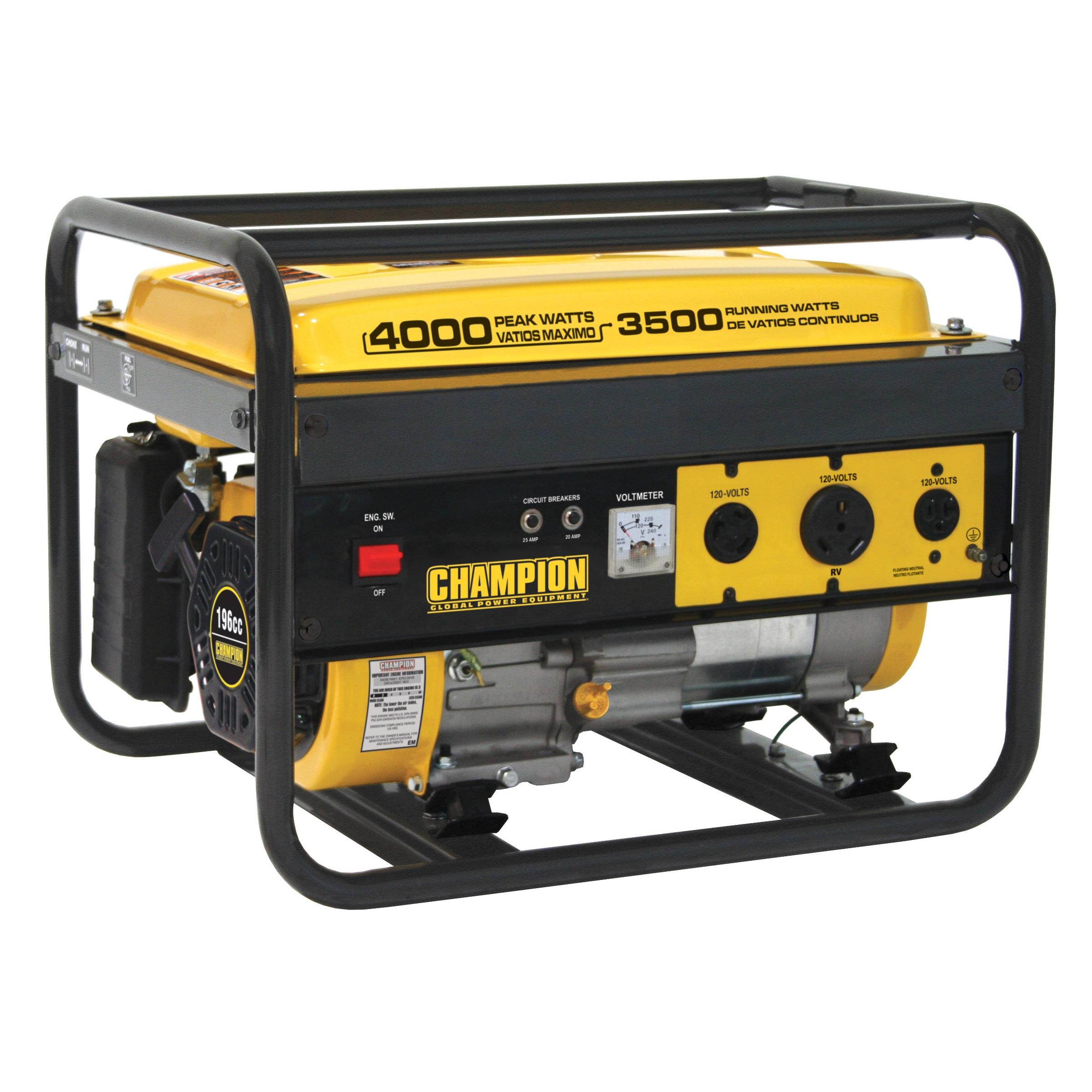 Portable Generator 3500 Watt RV Gasoline Powered Outdoor Emergency