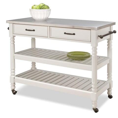 Maison Rouge Abbey Savannah White Kitchen Cart