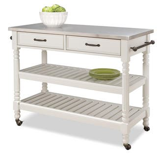 Savannah White Kitchen Cart by Home Styles|https://ak1.ostkcdn.com/images/products/6626649/6626649/Savannah-White-Kitchen-Cart-P14192777.jpg?impolicy=medium