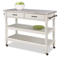 Maison Rouge Abbey Savannah White Kitchen Cart
