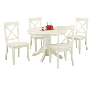 White 5-piece Dining Furniture Set by Home Styles
