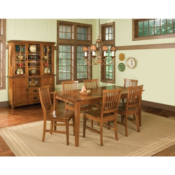 Arts And Crafts Cottage Oak 5 Piece Dining Furniture Set By Home Styles    Free Shipping Today   Overstock.com   14192781