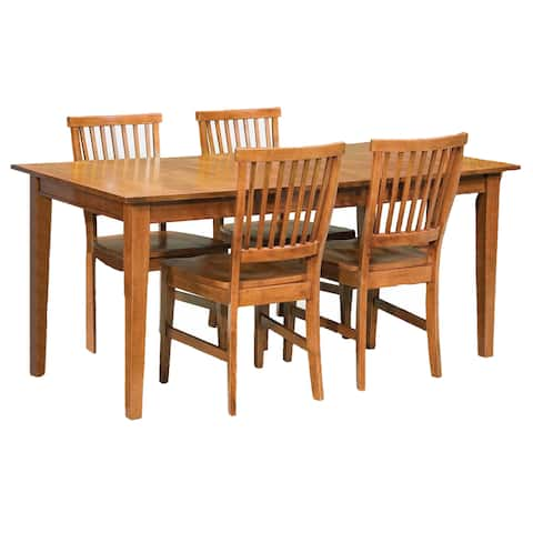 Copper Grove Clearwater Oak 5-piece Dining Furniture Set