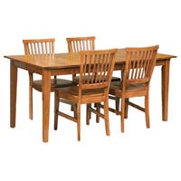 Pine Canopy Clearwater Oak 5-piece Dining Furniture Set