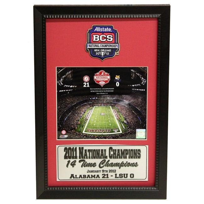 University of Alabama 2011 BCS National Champion Patch Frame