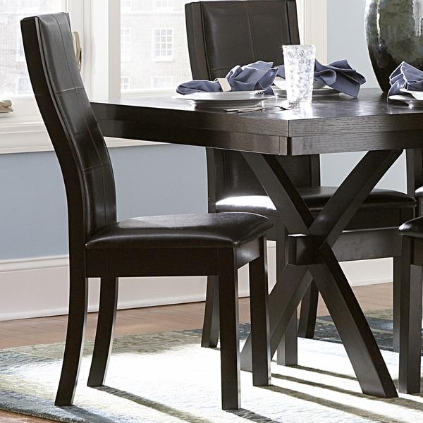 INSPIRE Q Dartford Espresso Contoured Dining Chair (Set of 2)
