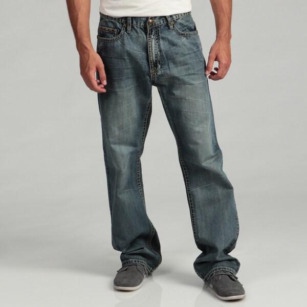 Anitque River Men's Stud-embellished Woven Jeans