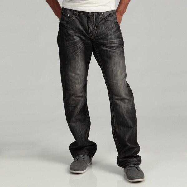 Antique Rivet Men's Embellished Pocket Woven Jeans