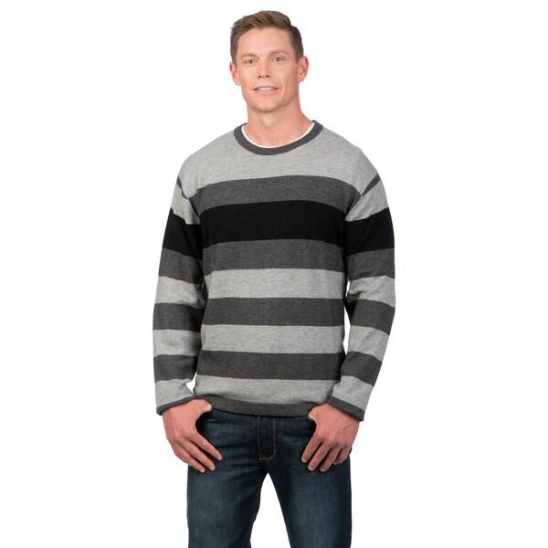 Weatherproof Men's Engineered Stripe Merino Wool/Cashmere Blend Sweater