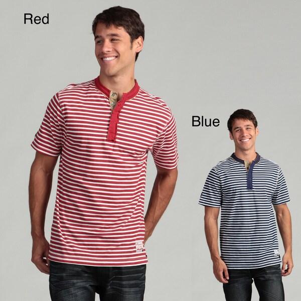 Request Men's Striped Henley Tee