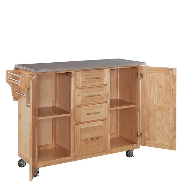Home Styles Natural Breakfast Bar Kitchen Cart   Free Shipping Today    Overstock.com   14192873