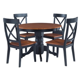 home styles black cottage oak 5 piece dining furniture set