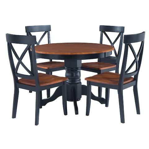 The Gray Barn Larken Black and Oak 5-piece Dining Furniture Set