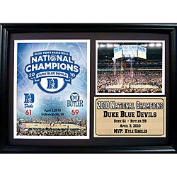 Duke University 2010 NCAA Basketball Champion Photo Stat Frame