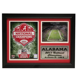 University of Alabama 2011 National Champion Photo Stat Frame 2