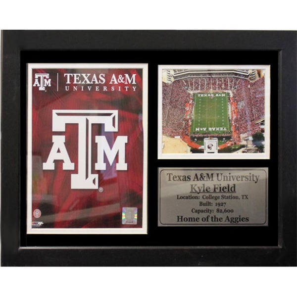 Texas A&M University Logo Photo Stat Frame