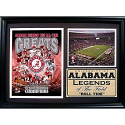 University of Alabama Greats Photo Stat Frame