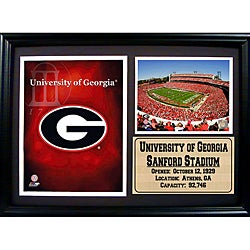 University of Georigia Logo Photo Stat Frame