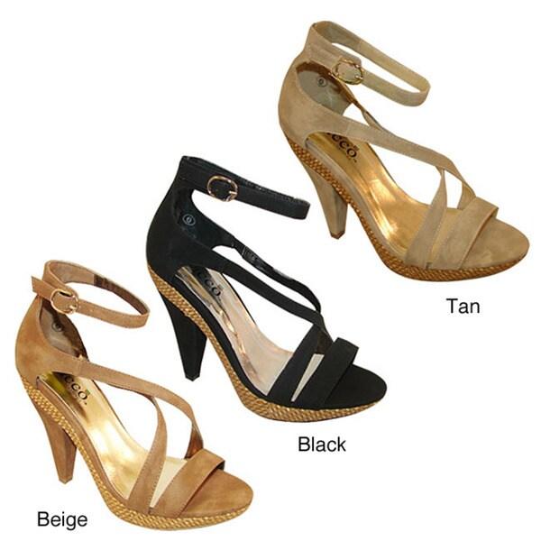 Bucco Women's 'Gelasia' Faux Suede Sandals