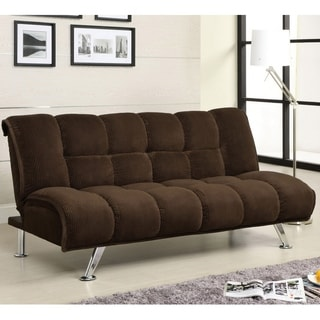 Furniture of America Maybeline Padded Corduroy Futon Sofabed