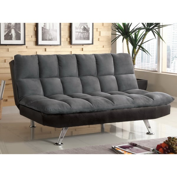 Shop Furniture Of America Getz Contemporary Grey Faux
