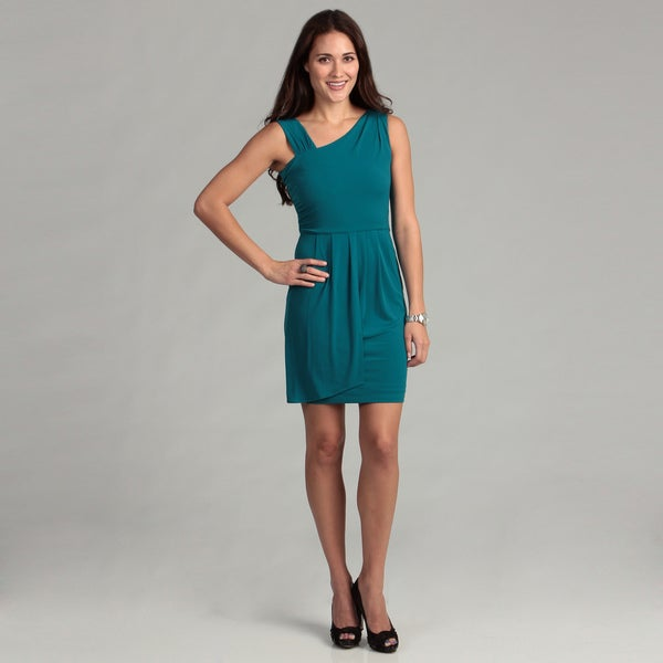Calvin Klein Women's Asymmetrical Neck Dress