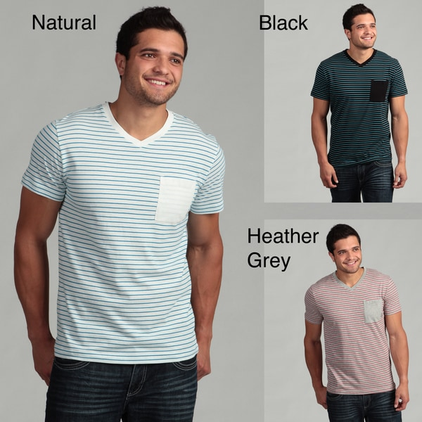 Company 81 Men's Striped V-neck Tee