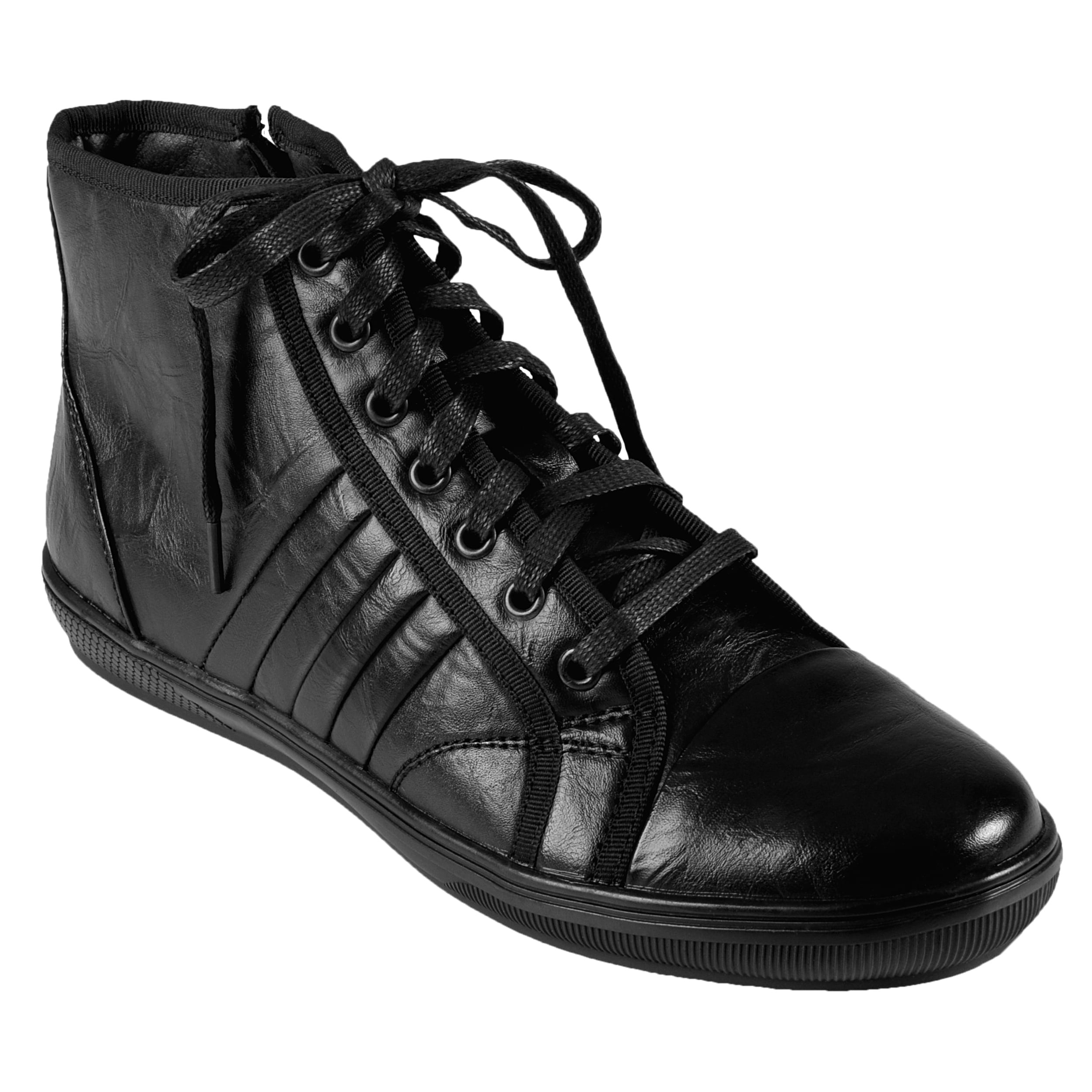 Boston Traveler Men's High Top Lace-up Sneakers - Thumbnail 0