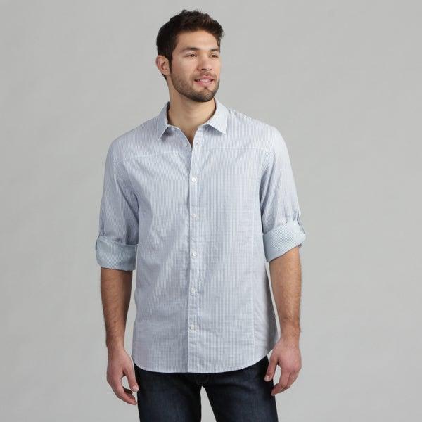 Calvin Klein Men's Coastal Striped Woven Shirt FINAL SALE