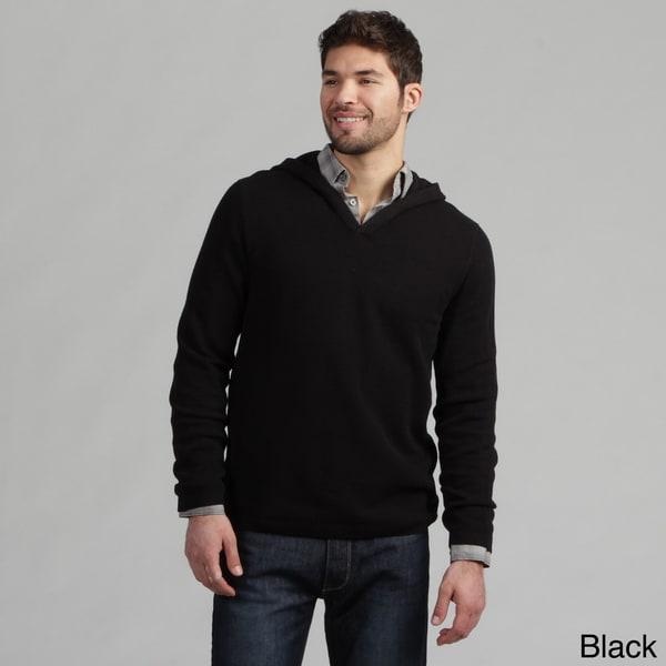 Calvin Klein Men's V-neck Box Textured Hoodie FINAL SALE