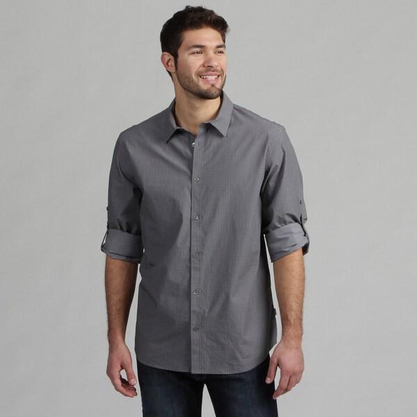 Calvin Klein Men's Smokestack Button Front Shirt FINAL SALE