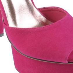 Hailey Jeans Co Women's 'Rain' Peep Toe Ankle Strap Platform Heels - Thumbnail 2