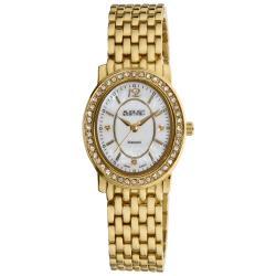 Goldtone August Steiner Women's Dazzling Diamond Oval Bracelet Watch