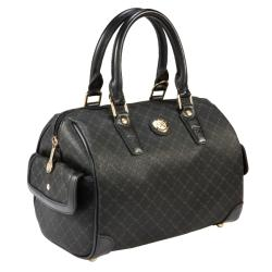 RIONI Signature Black Small Boston Bag