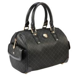 RIONI Signature Black Small Boston Bag
