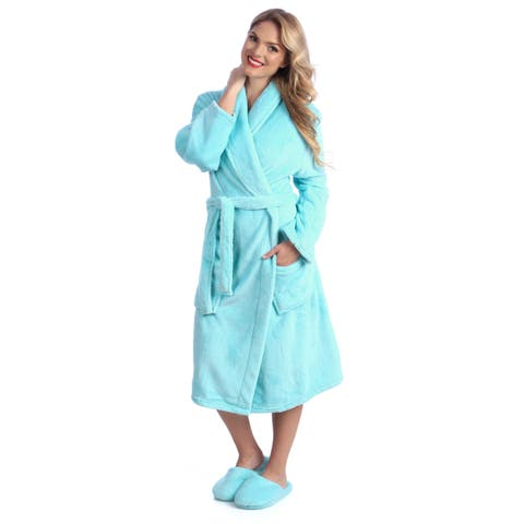ed3c99a00b20 Ultrasoft Plush Bathrobe and Slipper Set