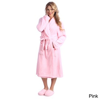 Ultrasoft Plush Bathrobe and Slipper Set (More options available)